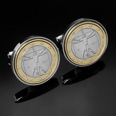 Leonardo Da Vinci Cufflinks  Vitruvian Man by worldcoincufflinks, $69.00