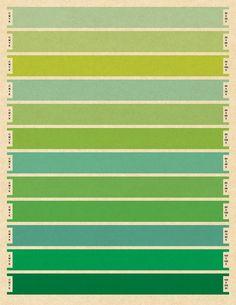 Litmus Blue CMYK Print - Large - Print - Bars - Pantone - Index color - blue - 10x13