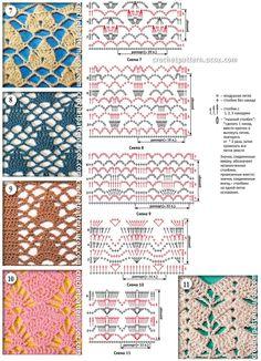 Häkelmuster Openwork / crochet patterns stitches