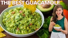 How to make the BEST EVER Guacamole. An authentic guac recipe loaded with avocados, tomato, onion, cilantro, and plenty of lime juice. The only guacamole recipe you'll need! Guacamole Recipe Easy, Homemade Guacamole, Salsa Recipe, Bread Recipes, Soup Recipes, Cooking Recipes, Mexican Food Recipes, Ethnic Recipes, Sauces