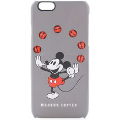 Markus Lupfer Juggling Mickey Mouse iPhone 6 Case (245 BRL) ❤ liked on Polyvore featuring accessories, tech accessories, phone cases, grey multi, apple iphone cases, iphone cases, markus lupfer and iphone cover case