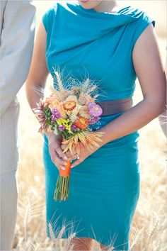 summer bridesmaid bouquet from Half Moon Blooms