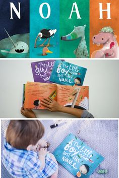 Noah met a Narwhal, an Ostrich, an Aardvark and a Hippo in his magical Lost My Name story. Who will your child meet on their personalized journey? | Lost My Name personalized children's books are the ideal gift for little ones