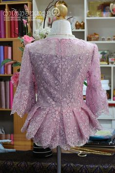 Blouse Batik, Batik Dress, Lace Dress, Kebaya Lace, Batik Kebaya, Thailand Fashion, Wedding Day Dresses, Blusas Top, Dress Brokat