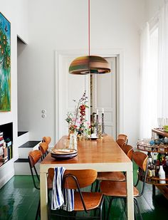 sweet home Kitchen rustic home house design decor trend style styling decor chic shabby pendant light table country room living Decor, House Styles, Interior Design, House Interior, Home, Interior Inspiration, Interior, Green Flooring, Home And Living