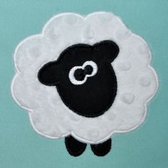 INSTANT DOWNLOAD - Embroidery Machine Sheep Applique Design - Farm Animal Applique - 3 Sizes - Spring Applique Design