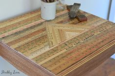 Shabby Love: Triangles and Yardsticks - DIY Table Top