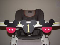 Mickey Mouse Birthday high chair banner i am 1  BOY birthday. first birthday, Mickey Mouse, via Etsy