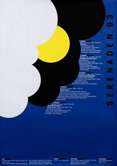 Serenaden 93 by Tissi, Rosemarie Graphic Design Posters, Graphic Design Illustration, Icon Design, Print Design, Menu Design, Poster Ads, Vintage Posters, Modern Posters, Museum Of Modern Art
