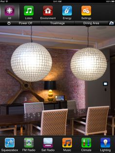 Truelmage Control App from Savant Systems - take a photo of your space and upload to iPad