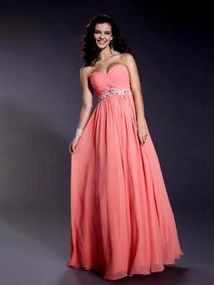 Novia vestido de dama de largo sin tirantes