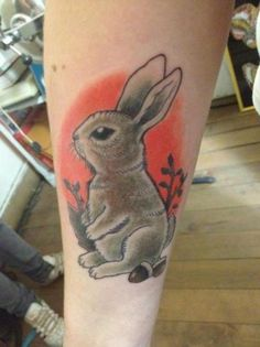 i don't know about the background shading, but i like the style... and the rabbit is one of my spirit animals.