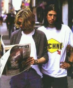 Kurt Cobain and Dave Grohl