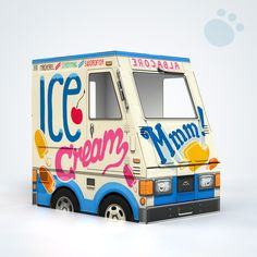 """OTO Ice Cream Truck for Cats! ~ """"Why should kids have all the fun? OTO Ice Cream Truck is now available in cat size! This little beast looks just like the kid-size one, except that it's small and rocks fish flavors."""" ~ Adorable!"""
