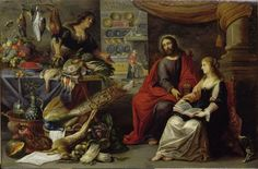 Erasmus Quellinus II and Adriaen van Utrecht Jesus in the house of Martha and Mary centuryMediumoil on panelDimensionsHeight: cm in). Width: cm in). My Maria, Religious Paintings, Utrecht, Mary, Museum, Current Location, Wikimedia Commons, House, Baroque