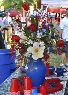 Awesome centerpieces like this are all over the Grove.