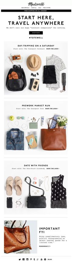 Madewell | newsletter | fashion email | fashion design | email | email marketing | email inspiration | e-mail
