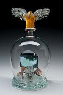"Washington Glass School: ""Elements of Century Reliquaries"" Sculpture Class Glass Vessel, Glass Art, Witch Spring, Chrysler Museum, The Bell Jar, Bell Jars, Kiln Formed Glass, Sandblasted Glass, Event Calendar"