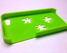 green 3d printed iphone case