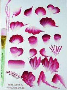 one stroke painting tecnica - Cerca con Google