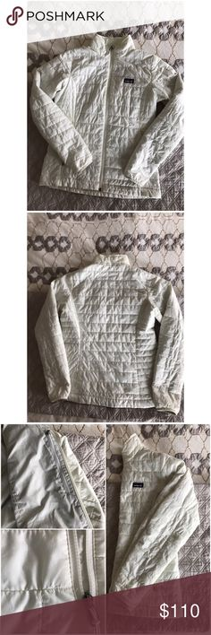 Patagonia Nano Puff jacket Light weight Patagonia Nano puff jacket, size m, in great condition, all zippers work. 3 pockets, (1 inside), minor threads coming loose but can be trimmed and small stain (picture 4). Otherwise a great jacket. Patagonia Jackets & Coats