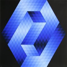Victor Vasarely that's not easy on the eyes. The seeds of an art movement are often planted decades before they sprou. Victor Vasarely, Foto Transfer, Bird Quilt, Concrete Art, Kinetic Art, Illusion Art, Art Abstrait, Shape Design, Op Art