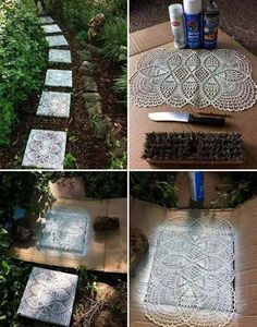 Diy Projects for Home Decor New 22 Charming and Beautiful Lace Diy Projects to Realize at Home Ces jardins non sont marche seulement nonobstant les pelouse Diy Home Decor Projects, Garden Projects, Diy Lace Projects, Diy Home Decor For Apartments, Home Decoracion, Deco Nature, Decoration Originale, Diy Interior, Cheap Home Decor