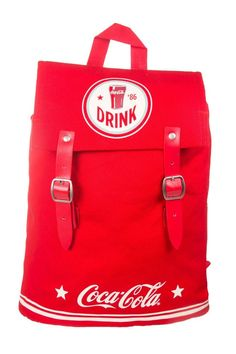 Official Coca-Cola Americana Canvas Drawstring Backpack NEW STOCK VINTAGE LOOK