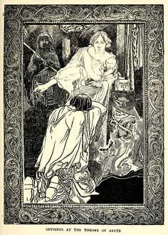'The adventures of Odysseus' retold in English by F.S. Marvin, R.J.G. Mayor & F.M. Stawell; illustrated by Charles Robinson. Published 1900 by J. M. Dent, London
