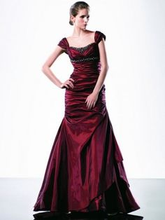 2012 Style A-line Sweetheart  Beading  Short  Floor-length Taffeta  Prom Dresses / Evening Dresses