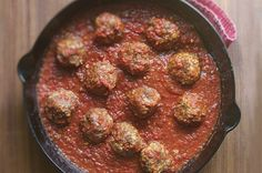 Rick Bayless | Chipotle Meatballs   YUM! We made these into 4 tortas with take-and-bake baguette, cotija cheese, and fresh cilantro!