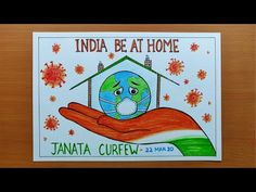 Importance of Janata Curfew in India? How to Draw Coronavirus Awareness Drawing/ Save India Today. - Coronavirus News Art Drawings For Kids, Drawing For Kids, Easy Drawings, Drawing Ideas, Illustration Sketches, Card Sketches, Save Water Poster Drawing, Harry Potter Birthday Cards, India Poster