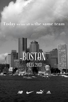 Nike, adidas, New Balance and PUMA Team Up for Boston http://hypebeast.com/2013/4/nike-adidas-new-balance-and-puma-team-up-for-boston