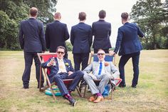 Groomsmen in Moss Bros Suits - Image by One Thousand Words - Vintage YSL Skirt For A Colourful Inspired Wedding At The Lulworth Estate Dorset With Groom In Moss Bros. Suit And Images By One Thousand Words Wedding Photographers Chair Photography, Wedding Photography, Wedding Ceremony Chairs, Wedding Invitation Fonts, Moss Bros, Groom Looks, Groomsmen Suits, Creative Wedding Ideas, Wedding Guest Book