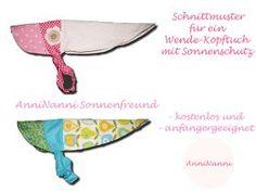 Freebook: Anleitung und Schnittmuster für ein Sommer-Kopftuch mit Schirm und Nackenschutz