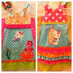 Boutique Fashionista Summer Surfing Hello Kitty Dress!
