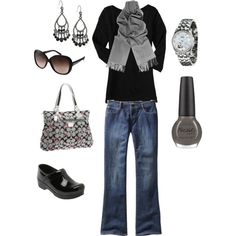 Black and Gray, created by leach-005.polyvore.com - my first polyvore set!
