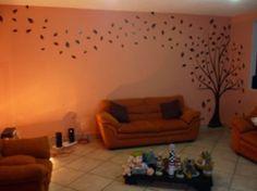 arboles pintados en pared