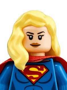 Supergirl - Personajes - DC Comics Super Heroes LEGO.com Lego Supergirl, Supergirl Characters, Legos, Super Hero Tattoos, Lego Tattoo, Lego Faces, Old Barbie Dolls, Lego People, Lego Minifigs