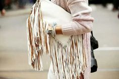 off white clutch. Tassels#MyLifeInMyBag