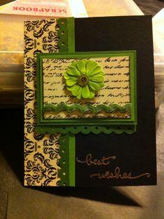 Handmade card... Best wishes