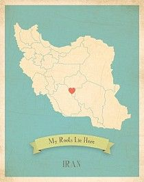 Iran My Roots Map from Children Inspire Design