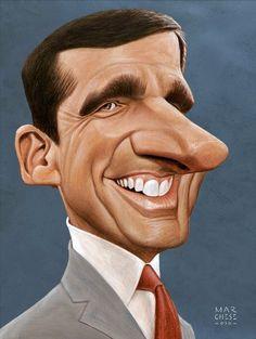 331d2ec0e22e07541efd1778f1ca836a.jpg (542×720) Funny Character, Character Art, Celebrity Caricatures, Funny Caricatures, Funny Art, Beaux Arts, Steve Carell, Cartoon Faces, Funny Faces