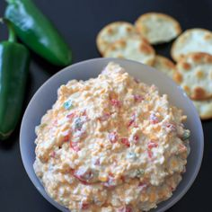 Skinny Jalapeno Pimento Cheese Recipe Lunch and Snacks, Appetizers with plain greek yogurt, jalapeno chilies, pimentos, sharp cheddar cheese, monterey jack, cayenne pepper