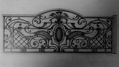 Эскизы – 1,601 photos | VK House Fence Design, Grill Gate Design, Modern Fence Design, Balcony Railing Design, Iron Gate Design, Exterior Stair Railing, Iron Stair Railing, Railings, Wrought Iron Staircase
