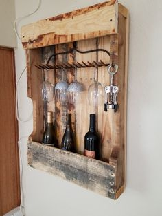 Fab wine rack from repurposed stuff!