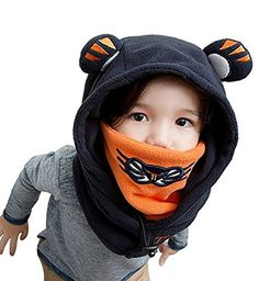 Winter Kids Child Cartoon Winter Thick Animal Hooded Face Ski Hats Navy Blue L * To view further for this item, visit the image link. (This is an affiliate link) Cold Weather Face Mask, Nose Warmer, Face Masks For Kids, Ski Hats, Winter Gear, Winter Kids, Balaclava, Outdoor Outfit, Dance Outfits