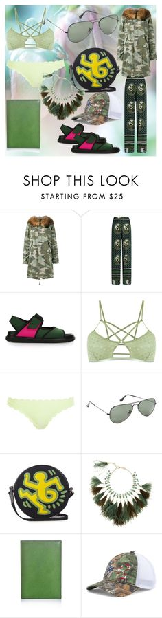 """""""fashion for alert"""" by denisee-denisee ❤ liked on Polyvore featuring Mr & Mrs Italy, Stella Jean, Marni, Andrea Bogosian, Heidi Klein, Ray-Ban, Olympia Le-Tan, Rosantica, Valextra and Under Armour"""