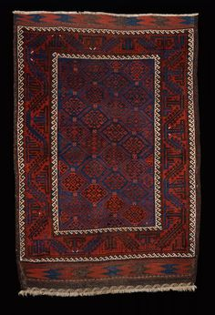 Culture Baluchi people Creation date about 1880 Collection Textiles Materials wool Dimensions 51 x 75 in. | 129.5 x 190.5 cm.