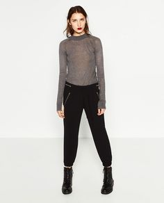 FLOWING TROUSERS WITH ZIPS